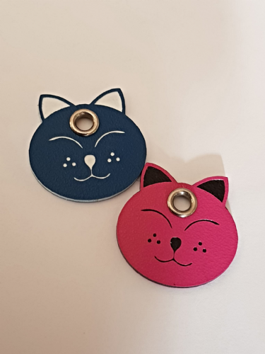 Acrylic Shaped Cat ID Tags - engraved on back
